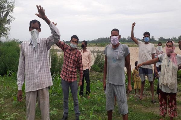 land erosion in kathua people protest