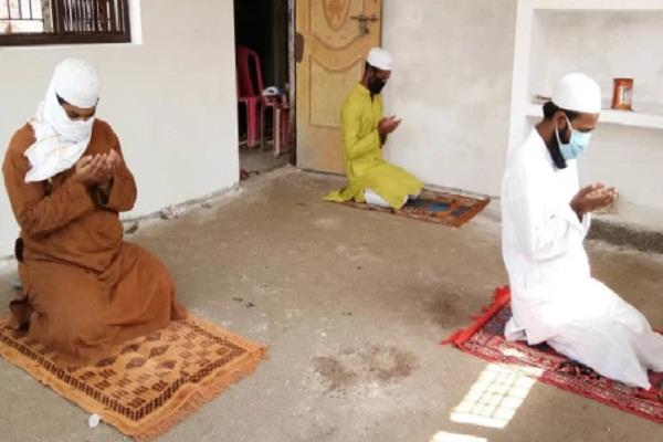 on the festival of sacrifice people prayed in homes