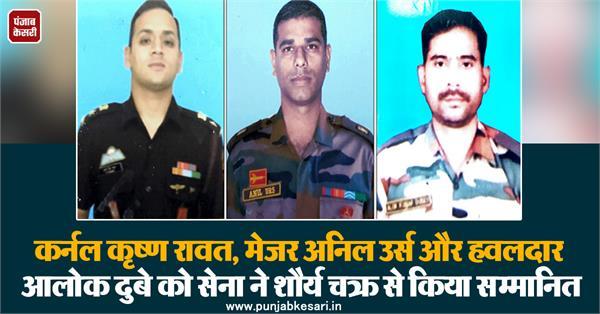 colonel krishna rawat major anil urs and havildar alok dubey
