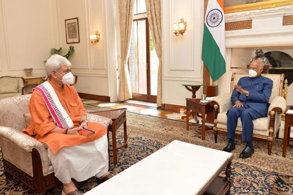 lt governor manoj sinha meet vice president off india
