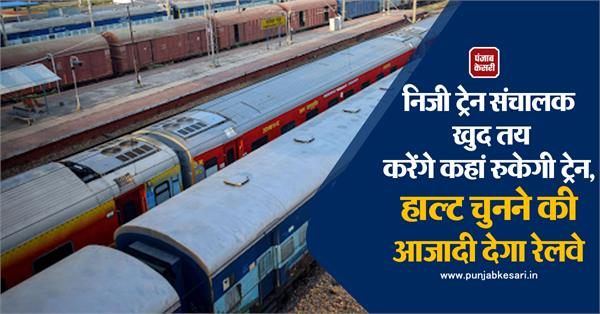 private train operators themselves will decide where the train will stop