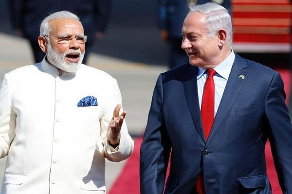 pm modi wishes the prime minister of israel a happy new year