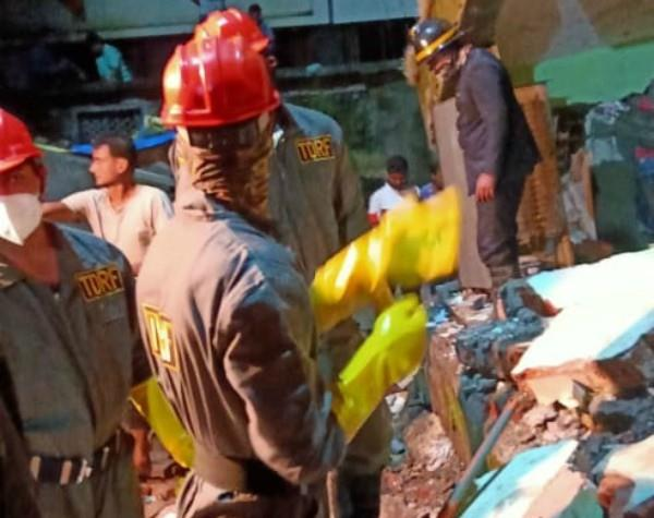 maharashtra 10 killed in building collapse in bhiwandi