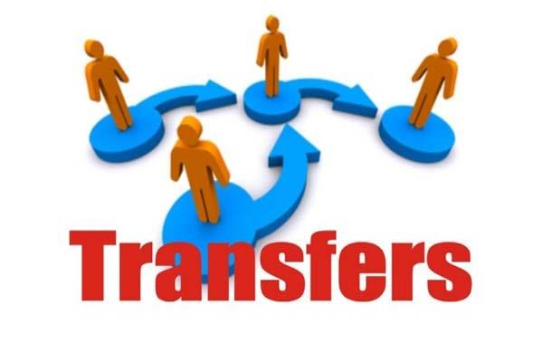 ban orders on transfers not apply to health department