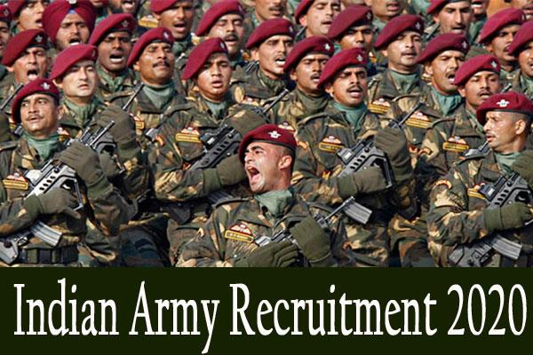 indian army recruitment 2020 apply for 99 soldier gd women posts