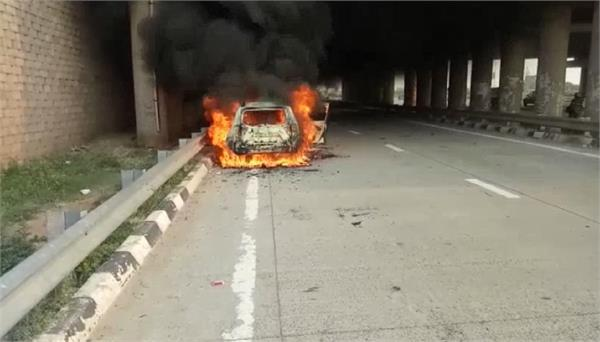 terrible fire in moving car car riders saved their lives