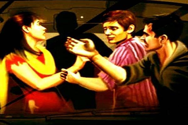 gang rape with wife