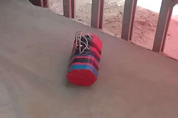 bomb found in school building was fake in bhind