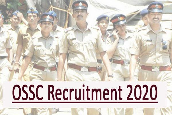 ossc si recruitment 2020 34 posts apply online excise sub inspector