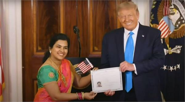 indian it professional sworn in as us citizen in rare wh ceremony