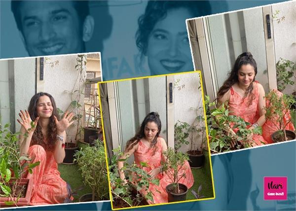सुशांत के सपने को पूरा करने के लिए अंकिता ने की पहल, एक्टर की याद में घर पर लगाए पौधे