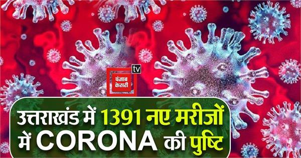 1391 new patient of corona found in uttarakhand