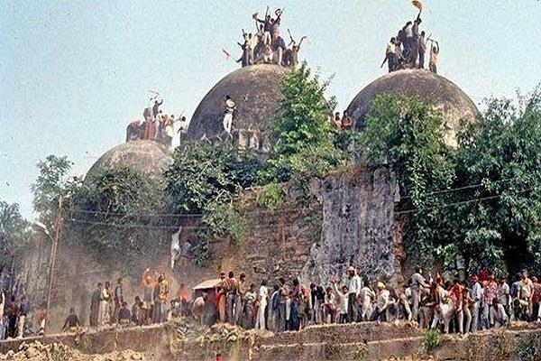 decision will be taken tomorrow in the babri demolition case
