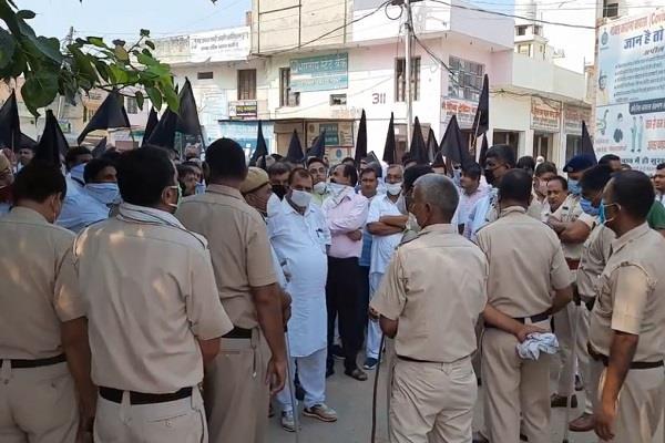 police stopped farmers and jobbers going to kurukshetra arrested