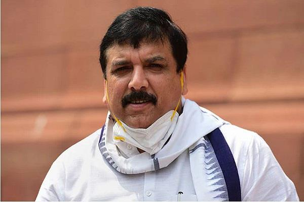 aap mp sanjay singh started creating ruckus on farmers bill
