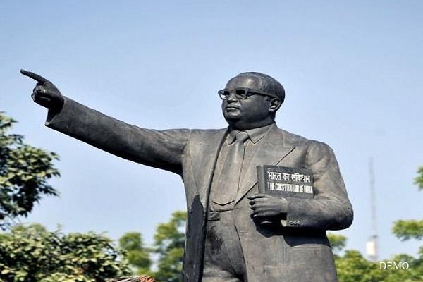 up chaotic elements broke ambedkar s statue villagers demand action