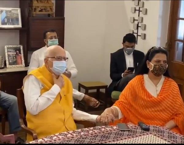 lal krishna advani reaction on babri case jai shri ram