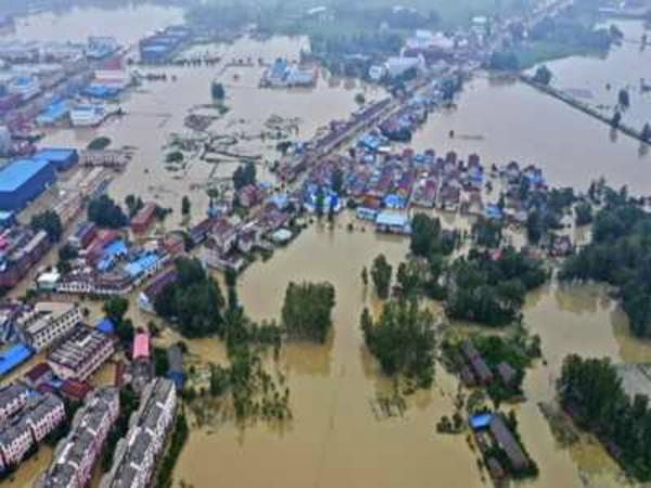 billions of dollars of damage caused by the terrible flood in china