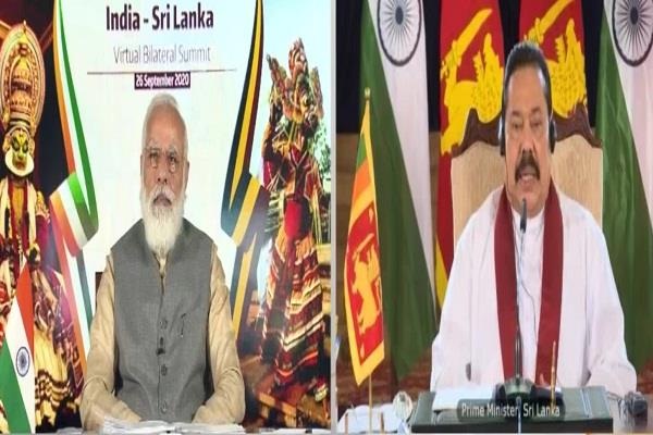 pm modi talked to sri lankan prime minister