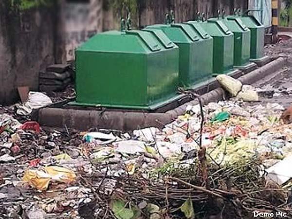 underground dustbin scheme fail in sundernagar