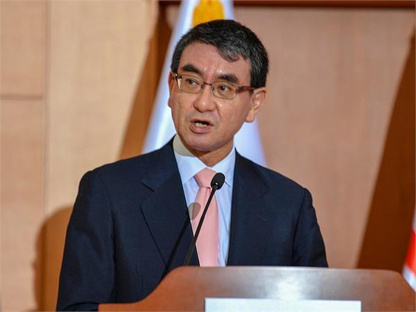 taro kono says china poses a security threat to japan