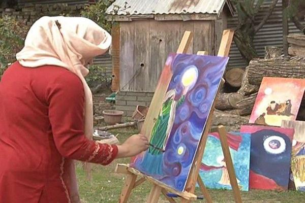 female sufi painter from j k inspires people to use art as therapy