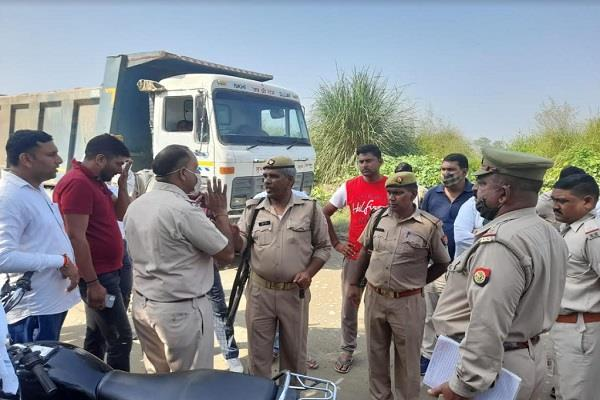 haryana uttar pradesh police again face to face with mining