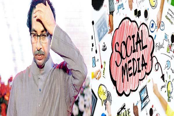 social media became a headache for shiv sena