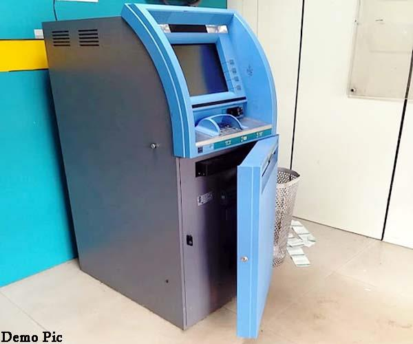 attempt to break atm in chandigarh alarm sounded in mumbai