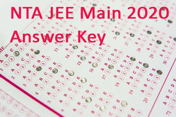 nta jee main 2020 answer key raise objections
