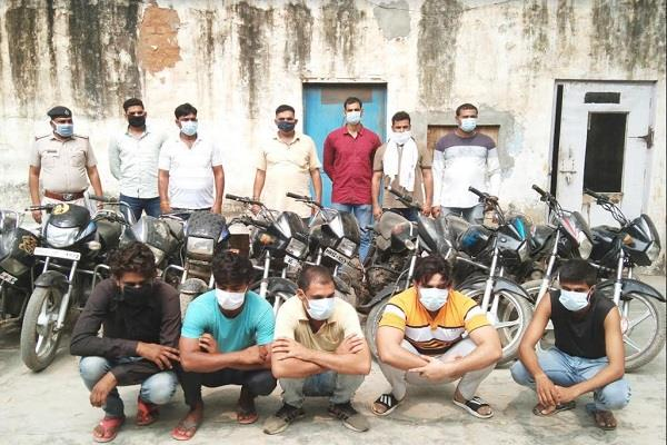 avt busts vehicle thief gang dozen motorcycles recovered