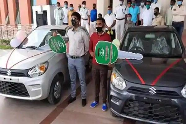 car awarded in reward for matriculation and intermediate toppers
