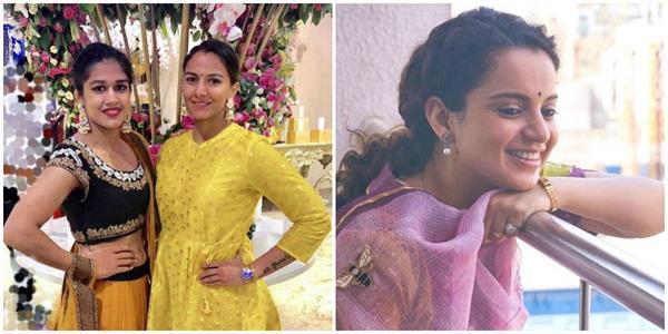 haryana news geeta phogat and babita phogat came out in support of kangana