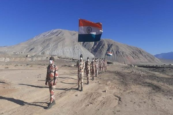 screws on china after the army itbp now occupies many front near pangong lake