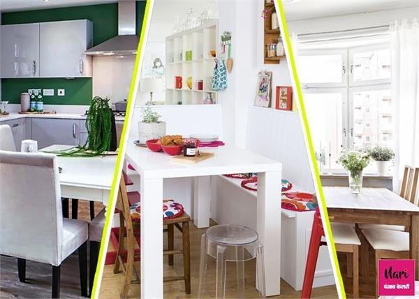 जगह बचाने के साथ-साथ किचन को स्टाइलिश लुक देंगे ये मिनी डाइनिंग टेबल