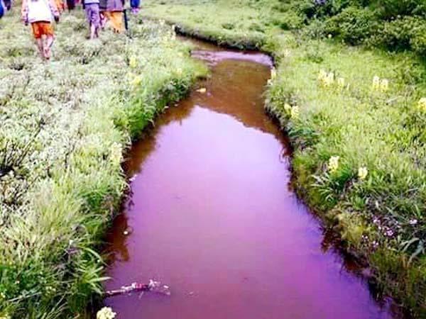 color of water in raktisar is ruddy red
