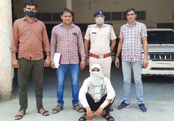 a youth arrested with 2 kg hashish