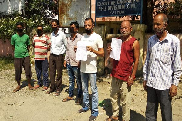 demand for water supply in kathua ward 1