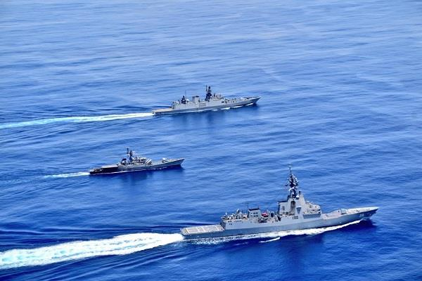 indo australian navies conducted maneuvers in the indian ocean