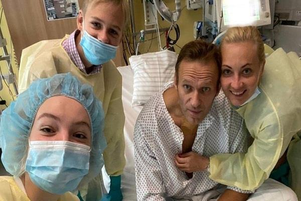 russia s opposition leader navalny posted a photo on instagram