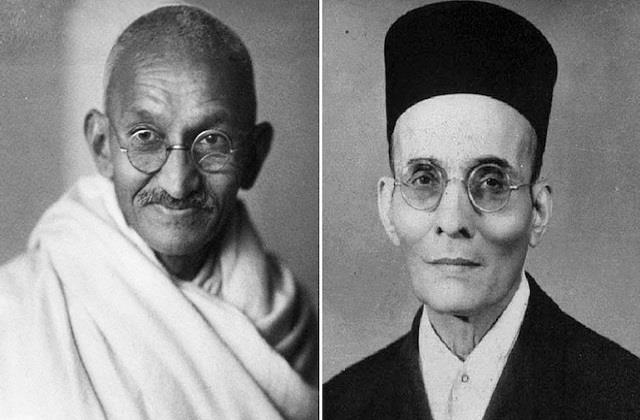 because only gandhi could wash the stain on savarkar