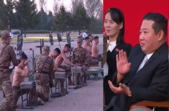 north korean soldiers smash brick with their heads impress king jong un