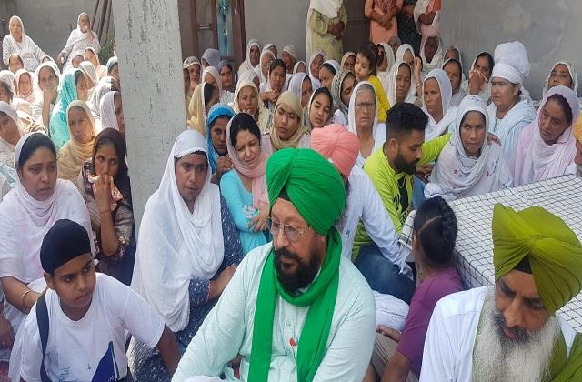 the dead body of the martyr mandeep singh reached the village