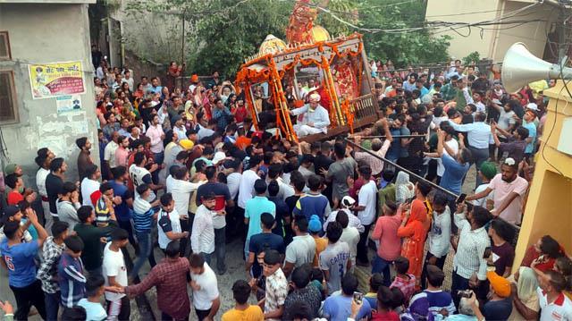 mother jagdambe in santoshgarh on the auspicious occasion of ashtami