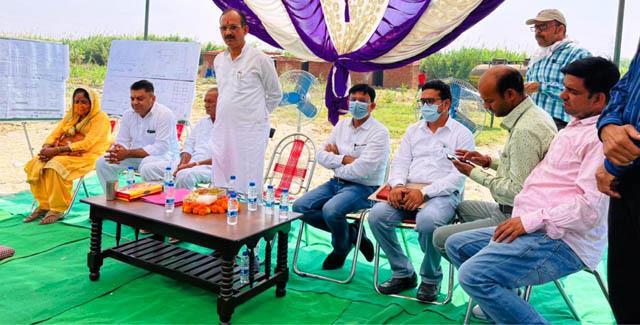 bhoomi pujan of sewerage treatment plant work done in santoshgarh