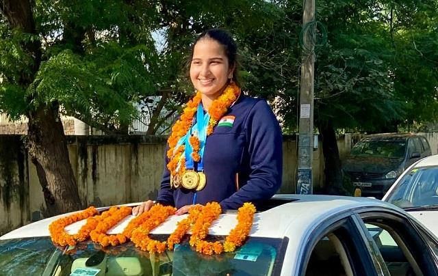 haryana daughter hoisted flag in south america won 4 gold medals