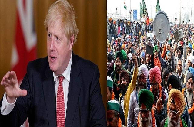 cancellation of visit of the british pm the victory of farmers govt s defeat