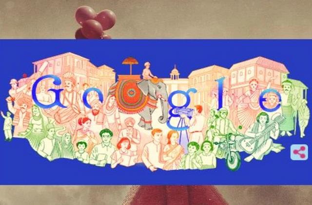 google made doodles in a special way on 72nd republic day