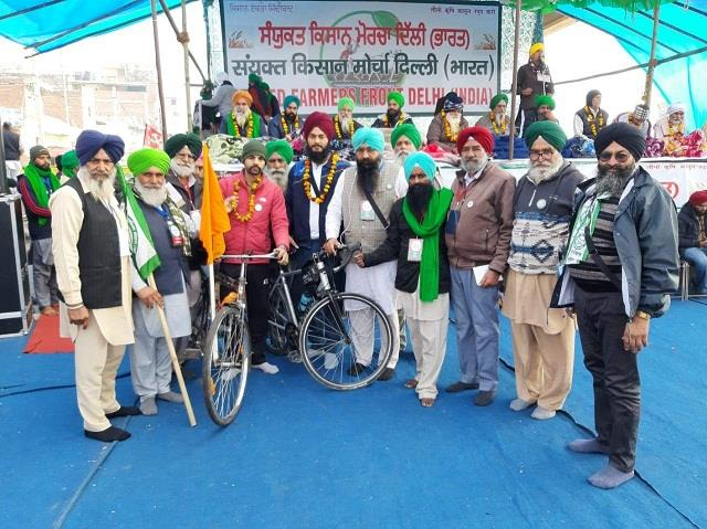 salute to the spirit reached tikari border by cycling 375 km