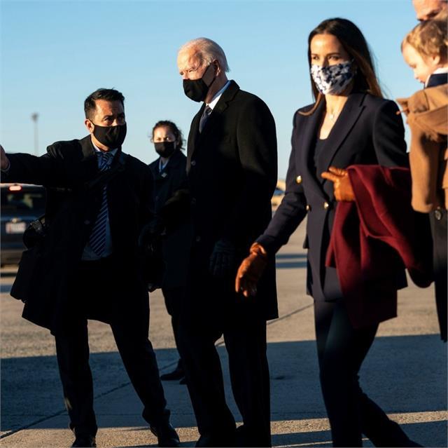 biden arrives in washington ahead of inauguration as president
